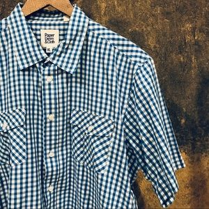 Paper Denim & Cloth blue gingham button down shirt